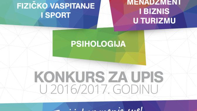 Konkurs za upis u školsku 2016/17. godinu