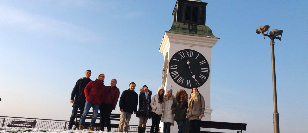 Studenti turizma na terenskom obilasku Petrovaradinske tvrđave