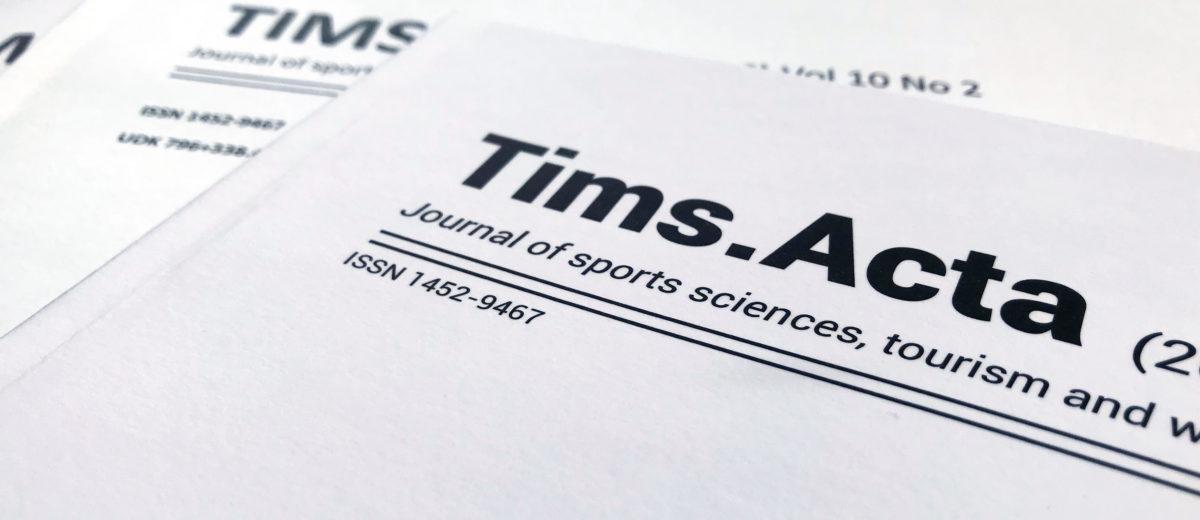 TIMS Acta (2018) Vol 12, No 2