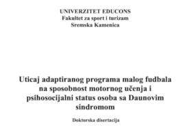 Javna odbrana doktorske disertacije kandidata MSc Bojane Milićević Marinković